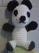 Stuffed Animal Toys Tapestries - Textiles - Panda by Sarah Biondo