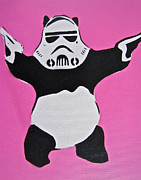Storm Trooper Paintings - Panda Trooper by Tom Evans