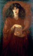 First Lady Painting Framed Prints - Pandora Framed Print by Dante Charles Gabriel Rossetti