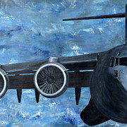 Plane Paintings - Panel II by Holly York