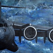 Plane Paintings - Panel III by Holly York