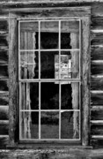 Cabin Window Prints - Panes to The Past Print by Sandra Bronstein