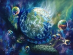 Religious Artist Painting Prints - Pangaea Print by Kd Neeley