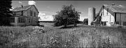 Stephen Mack Prints - Panorama - Old House with Barn-view2 Print by Stephen Mack