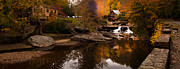 The Glade Framed Prints - Panorama  Glade Creek Mill Framed Print by Randall Branham