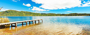 Jetty View Park Framed Prints - Panorama lake Framed Print by MotHaiBaPhoto Prints