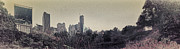 Central Park Digital Art Prints - Panorama of Central Park - Old Fashioned Sepia Print by Alex AG