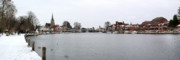 Marlow Posters - Panorama of Marlow Bridge in Winter Poster by Chris Day