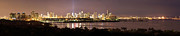 Seaport Prints - Panorama of Miami at Night Print by Matt Tilghman