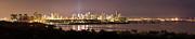 Panorama Of Miami At Night Print by Matt Tilghman