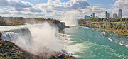 Niagra Falls Framed Prints - Panorama of Niagra Falls Framed Print by Jack Schultz