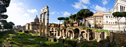 Rome Photos - Panorama of the Roman Forum by John  Bartosik