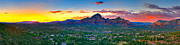 Sedona. Sunset Framed Prints - Panorama Sunset Sedona Arizona Framed Print by James O Thompson