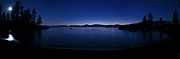 Sand Harbor Prints - Panoramic - Sand Harbor Beach Lake Tahoe Night Print by Donni Mac
