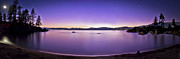 Sand Harbor Photos - Panoramic - Sand Harbor Beach Lake Tahoe Star Trail by Donni Mac