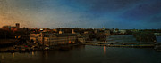 Fox River Mills Prints - Panoramic Appleton Skyline Print by Joel Witmeyer