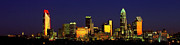 Mecklenburg County Prints - Panoramic Charlotte NC skyline Print by Patrick Schneider