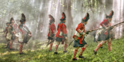 Revolutionary War Digital Art Prints - Panoramic French and Indian War Battle Print by Randy Steele