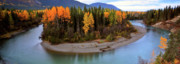 Park Scene Digital Art Prints - Panoramic Northern River Print by Mark Duffy