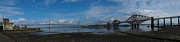 Fife Framed Prints - Panoramic of the Forth Road and Rail Bridges in Scotland. Framed Print by Zoe Ferrie