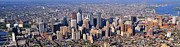 Panoramic Philly Skyline Aerial Photograph Print by Duncan Pearson