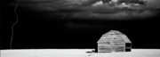 Storm Digital Art Prints - Panoramic Prairie Storm and Barn Print by Mark Duffy