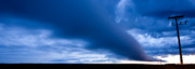 Storm Digital Art Prints - Panoramic Prairie Storm Canada Print by Mark Duffy