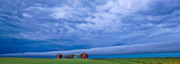 Storm Digital Art Metal Prints - Panoramic Prairie Storm  Metal Print by Mark Duffy