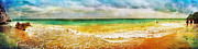 Sea Shore Digital Art - Panoramic Seaside at Tulum by Tammy Wetzel