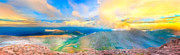 Mount Evans Framed Prints - Panoramic Sunset on Mount Evans Framed Print by James O Thompson
