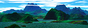 Art Product Digital Art Prints - Panoramic View Emerald Penninsula Digitally Gene Print by Raj Kamal
