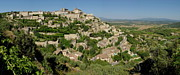 Provence Village Framed Prints - Panoramic view of Gordes Medieval hilltop village Framed Print by Sami Sarkis