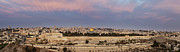 Holy Land Framed Prints - Panoramic View Of Jerusalem Framed Print by Noam Armonn