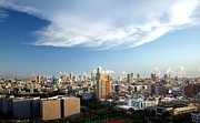 Urban Buildings Posters - Panoramic View of Kaohsiung City in Taiwan Poster by Yali Shi