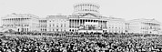 Panoramic Photographs Posters - Panoramic View Of The Inauguration Poster by Everett