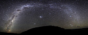 Cosmic Dust Posters - Panoramic View Of The Milky Way Poster by Luis Argerich