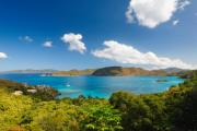 Bay Islands Framed Prints - Panoramic View of Trunk Bay Framed Print by George Oze