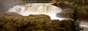 Clean Water Digital Art Framed Prints - Panoramic Waterfall Manitoba Framed Print by Mark Duffy