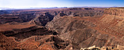 Canyonland Framed Prints - Panormaic View of Canyonland Framed Print by Robert Bales