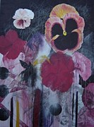 Cima Azimi Mixed Media - Pansies. by Cima Azimi