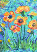 Gretzky Framed Prints - Pansies Framed Print by Paintings by Gretzky