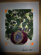 Invitations Painting Originals - Pansies In The  Vase by Jadranka M