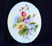 Pansies Posing Print by Alanna Hug-McAnnally