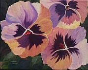 Award Painting Originals - Pansies-SOLD by Torrie Smiley