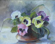 Romantic Paintings - Pansies by Tigran Ghulyan
