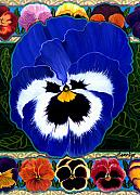 Anne Nye Acrylic Prints - Pansy Faces Ii Acrylic Print by Anne Nye
