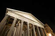 Illuminated Tapestries Textiles - Pantheon at night. Rome by Bernard Jaubert