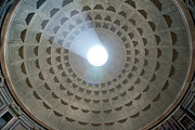 Sunlight. Circle Posters - Pantheon Cupola Poster by Angelika Stern