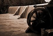 Arkansas Photo Posters - Panther Valley Water Wheel Poster by Fred Lassmann