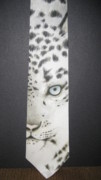 White Tapestries - Textiles Prints - Panthera Uncia Print by David Kelly